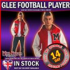 FANCY DRESS COSTUME ~ ADULT GLEE FOOTBALL PLAYER MED/LG